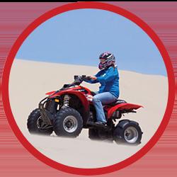 ATV in sand dunes